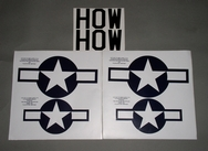 Mustang P51 decal set - 1/8th [approx 1450mm wingspan]