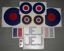 Spitfire MkIX decal set - 1/8th [approx 1450mm wingspan]
