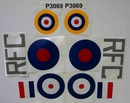 Hurricane decal set - 1/8th [approx 1500mm wingspan]