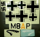 Bf110 Decal Set (Sharks Teeth)